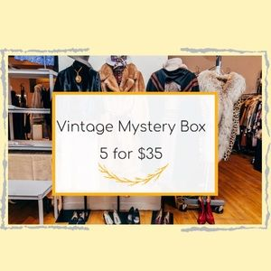 Vintage Mystery Box 5 for $35 Bundle of clothes